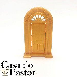 Porta Aberta Porta Óleo Dourada