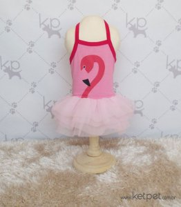 Vestido Flamingo Woof
