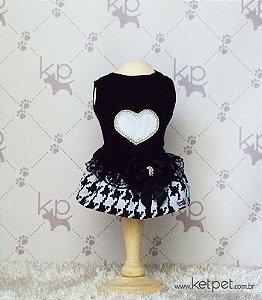 Vestido Preto Coração