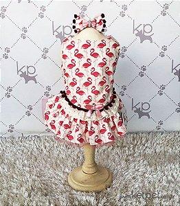 Vestido Flamingo + Laço