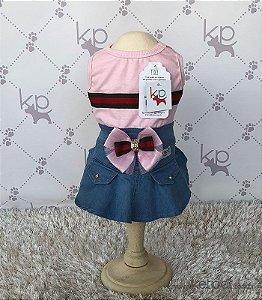 Vestido Jeans Rosa Dudog