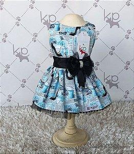 Vestido Azul e Preto Dudog