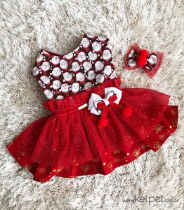 Vestido Natal + laço