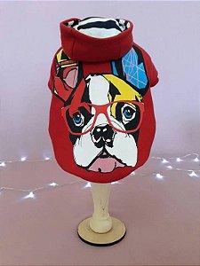 Moletom Bulldog - Vermelho