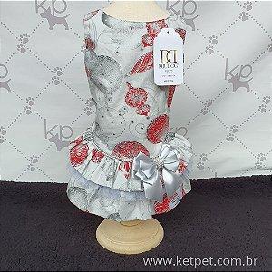 Vestido Natal  Bolão Strass - DuDog