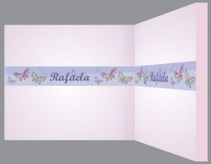 Faixa Decorativa Borboletas Pintadas