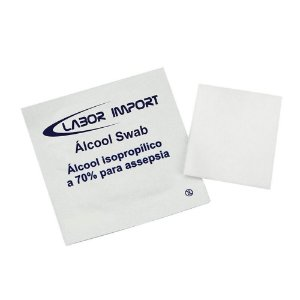 Álcool Swab 70% Saches - Labor Import