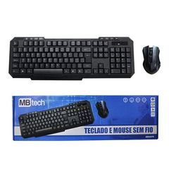 Kit Teclado + Mouse sem Fio MBTech Gamer Preto - MBT4079