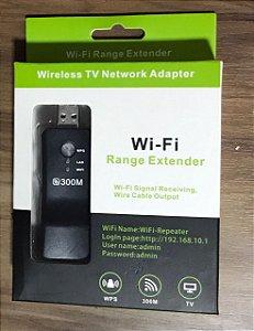 300 Mpbs Adaptador de Rede Sem Fio Wi-fi Smart TV HDTV Universal Portátil RJ45