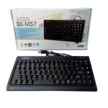 MINI TECLADO MULTIMÍDIA USB BK-M57 EXBOM