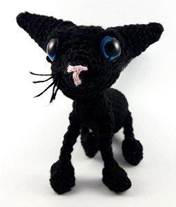 O Gato (Coraline) Amigurumi