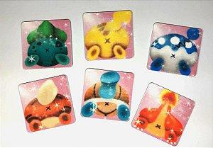 Apoio para Copos Bumbum Pokémon - Quadrado