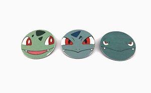 Conjunto de Imãs Evoluções Bulbasaur - Pokémon