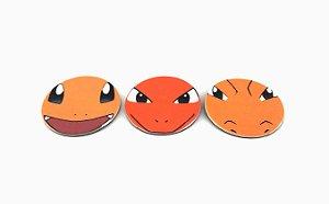 Conjunto de Imãs Evoluções Charmander - Pokémon
