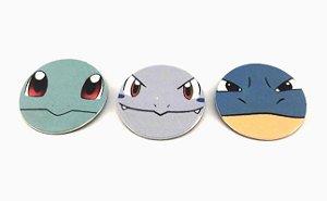 Conjunto de Imãs Evoluções Squirtle - Pokémon