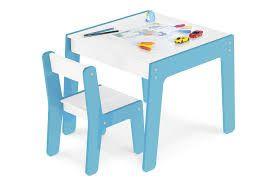 Mesa - Com Cadeira Infantil - Azul