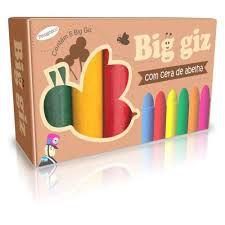 Giz De Cera - Big Giz - 6 Cores