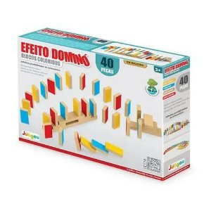 Efeito Dominó - Blocos Coloridos - 40 Peças