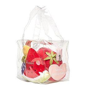 Coleção Comidinhas de Pelúcia - Bolsa com Kit Legumes e Frutas