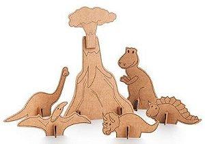 Destaque, Pinte e Monte - Dinossauros
