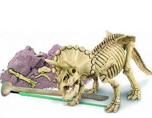 Kit de Escavação de Esqueleto - Tricerátopo