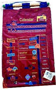 Calendário Inglês Bordado