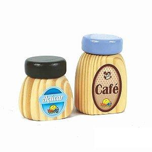 Coleção Comidinha - Café e Açúcar - 02pç