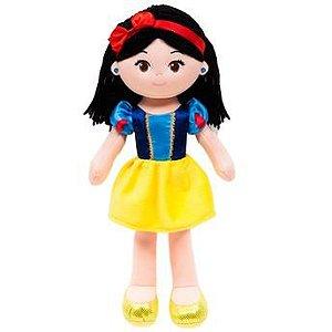 Boneca Branca de Neve de pano 40cm princesas da Disney Bubba