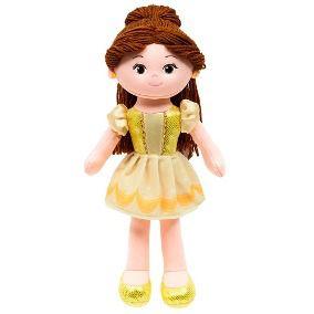 Boneca Bela de pano 40cm princesas da Disney Bubba