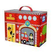 Caixa Divertida - Bombeiros - Madeira - Tooky Toy