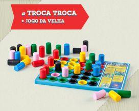 Jogo Troca Troca + Jogo Da Velha-Multicolorido-Hergg