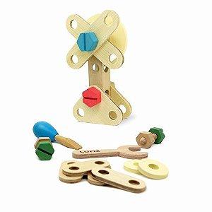 Brinquedo de Madeira - Ferramentas - Kit Inventando e Consertando - Lume