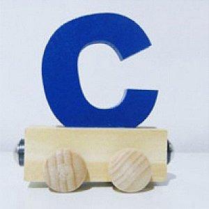 Vagão Letra C - Azul