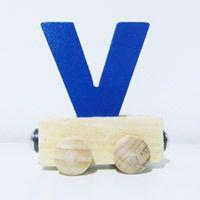 Vagão Letra V - Azul