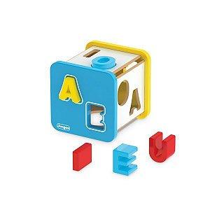 Cubo Didático - Letras - Encaixe