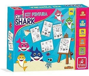 Kit Pintura - Club Shark - Madeira - Brincadeira de Criança