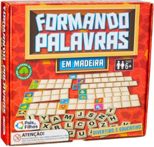 Formando Palavras - Cartelas de Alfabetização - Madeira