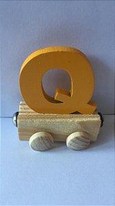 Vagão Letra Q - Amarela