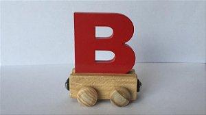 Vagão Letra B - Vermelho