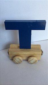 Vagão Letra T - Azul