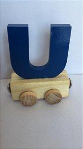 Vagão Letra U - Azul