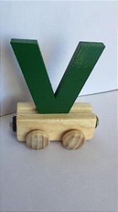 Vagão Letra V - Verde
