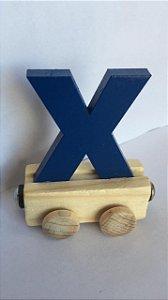 Vagão Letra X - Azul