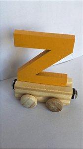 Vagão Letra Z - Amarela