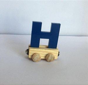 Vagão Letra H - Azul