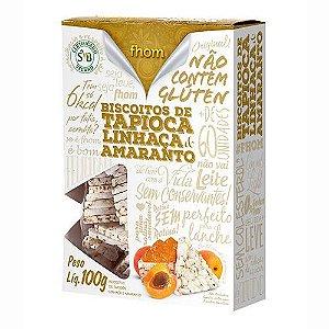 Biscoito Fhom de tapioca, linhaça e amaranto