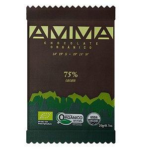Amma Chocolate Orgânico 75% Cacau 20g