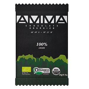 Amma Chocolate Orgânico 100% Cacau 20g