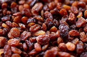 Uvas-passas escura sem sementes 1kg