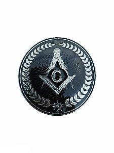 Adesivo Metal Freemason Niquel